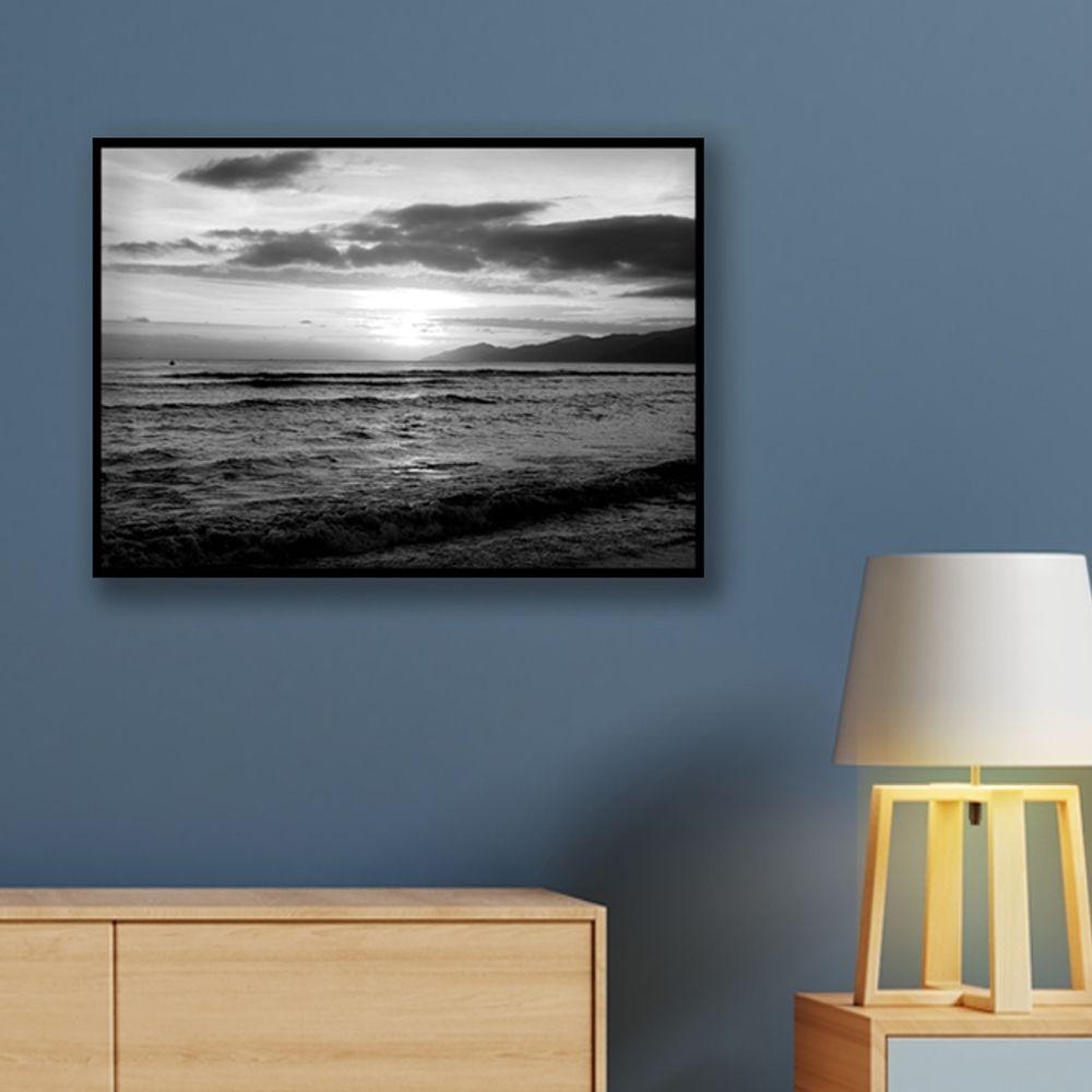 사진 인테리어 액자  자연 풍경 흑백사진 A3블랙AL8