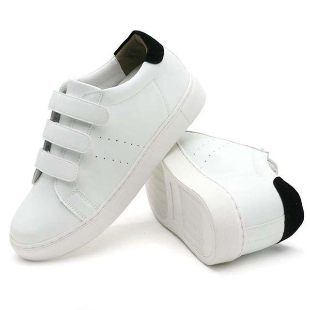 W 캐주얼 슈즈 학생 찍찍이 스니커즈 신발 남성 운동화