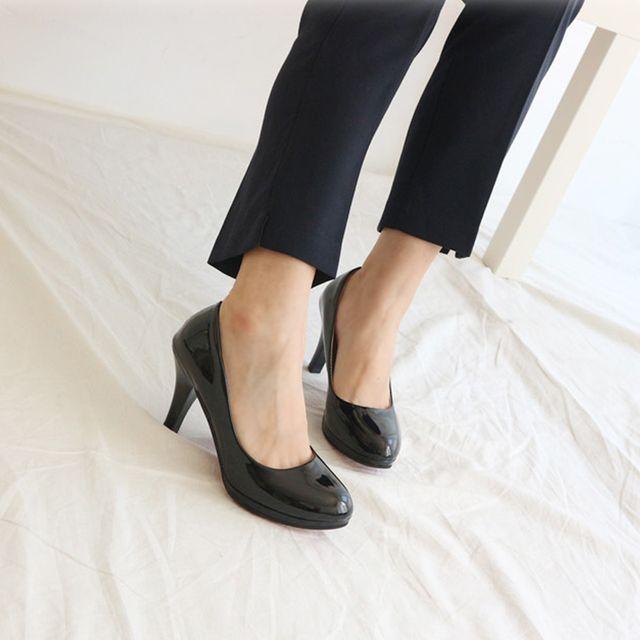 빅사이즈 4컬러 여성 펌프스힐 캐주얼구두 키높이신발