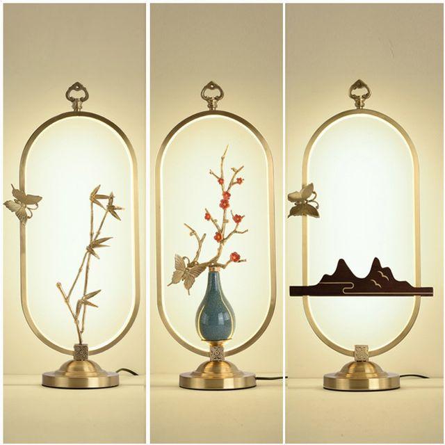 [해외] 인테리어 스텐드 조명 청동 램프 선 램프