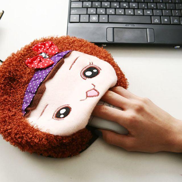 USB 온열 마우스패드 - 소녀
