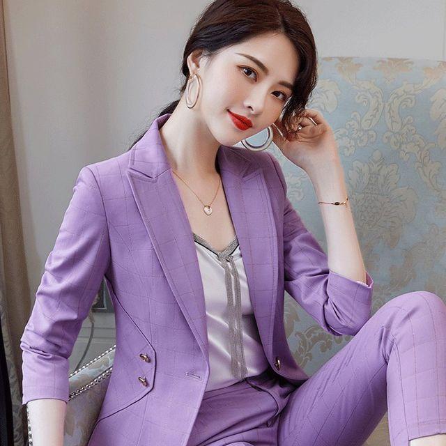 [해외] 여성 패션 재킷 자켓 정장세트장 바지 가을 작업