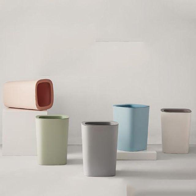W 키밍 북유럽 휴지통 가정 분리 쓰레기 화장실 디자인