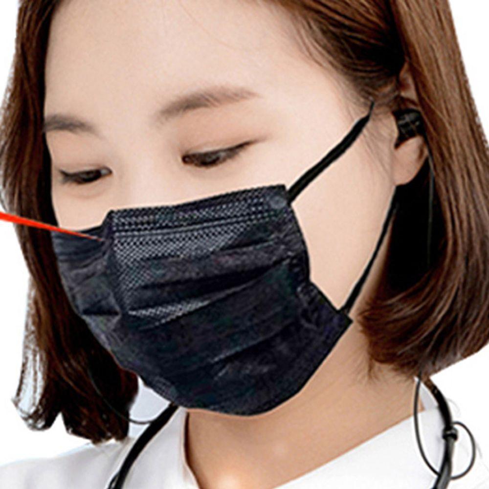 검은 마스크 10P 여성 어린이 검정 블랙 필터 M-2