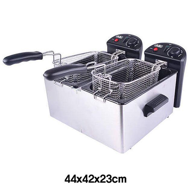 탁사용2구 전기튀김기-6L(x2) [제작 대량 도매 로고 인쇄 레이저 마킹 각인 나염 실크 uv 포장 공장 문의는 네이뽕]