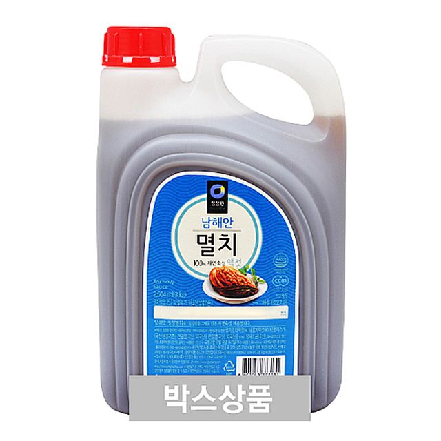 남해안 청정원 멸치 액젓 2504ml(3kg) X 4EA,청정원,남해안,멸치,액젓,2504ml3kg