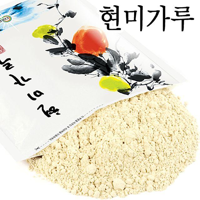 [더산쇼핑]볶은현미가루 (국산 500g) 현미쌀 발아현미 미강 웰빙푸드