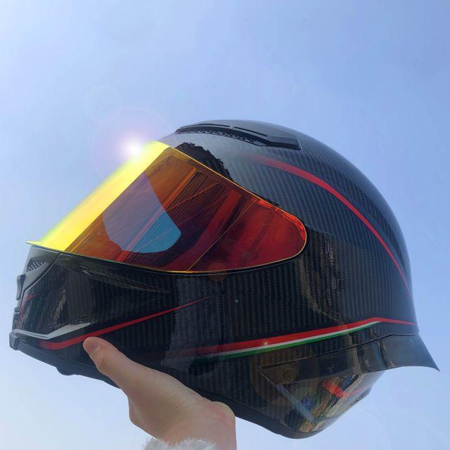 [해외] DGL 탄소 섬유 패턴 오토바이 헬멧