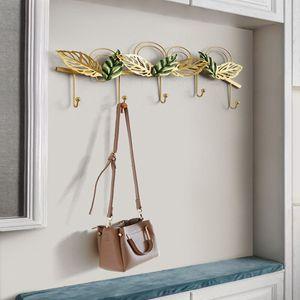 고급스러운 포인트 인테리어 잎사귀 후크 철제 벽장식