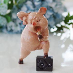 노래하는 핑크 돼지 장식인형