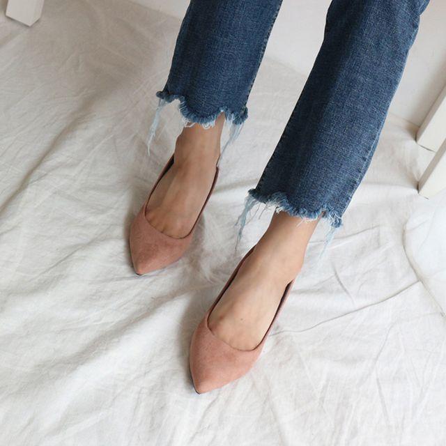 빅사이즈 여성 펌프스힐 캐주얼 구두 데이트 이쁜신발