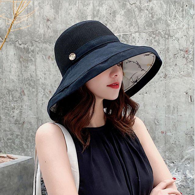 W 여성 버킷햇 양면 벙거지 여름 썬캡 챙넓은 모자