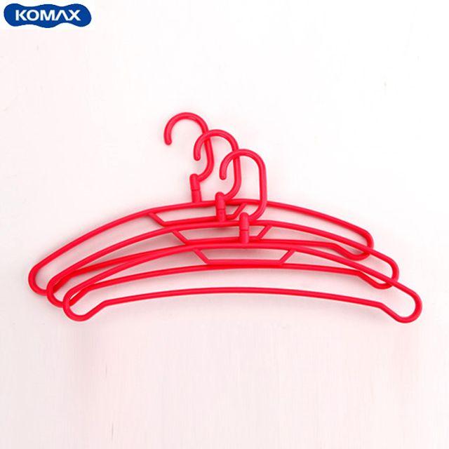 코멕스 센스 옷걸이(3pcs)-레드 [제작 대량 도매 로고 인쇄 레이저 마킹 각인 나염 실크 uv 포장 공장 문의는 네이뽕]