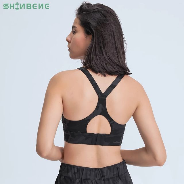 [해외] SHINBENE 높은 충격 운동 체육관 운동 요가 브래지어