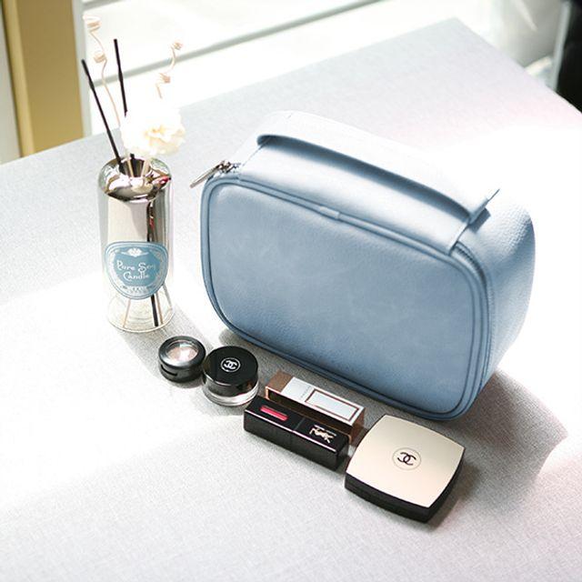 분리형수납 여행용 파우치-블루 [제작 대량 도매 로고 인쇄 레이저 마킹 각인 나염 실크 uv 포장 공장 문의는 네이뽕]