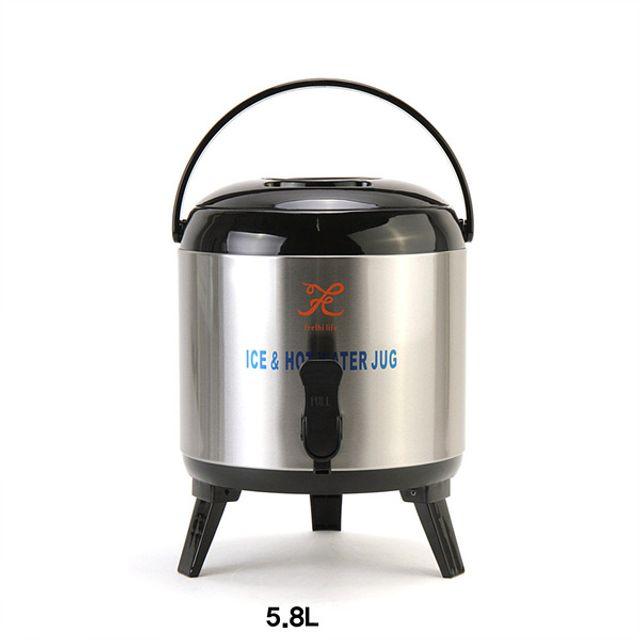 스테인리스 보온보냉 워터저그 보온물병-5.8L [제작 대량 도매 로고 인쇄 레이저 마킹 각인 나염 실크 uv 포장 공장 문의는 네이뽕]
