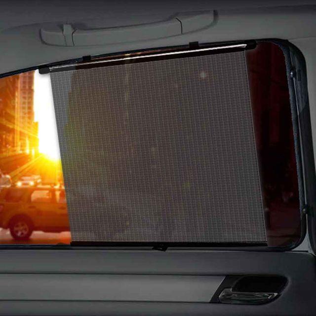 차량용 롤업 햇빛가리개 2p 원터치 차량용 커텐 커튼