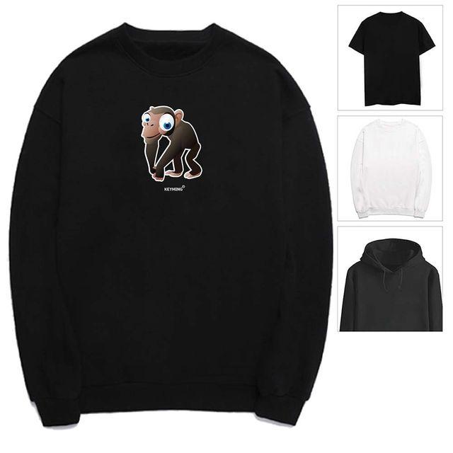 W 키밍 침팬치 여성 남성 티셔츠 후드 맨투맨 반팔티