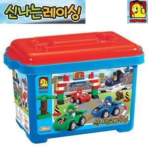 재미있는 장난감 남자 아이 생일 선물 레이싱 블럭