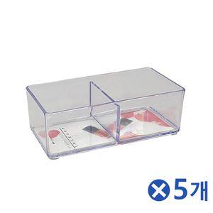 투명 뷰티소품 정리함 4호x5개 화장품보관함 수납정리