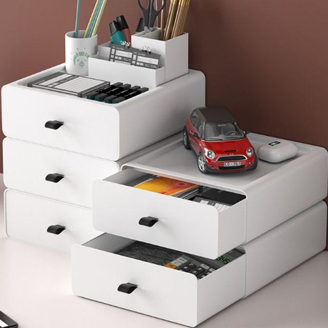 W 키밍 테이블 미니 서랍장 가정용 사무실용 적층 조립