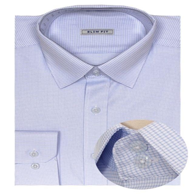 W 베이직 잔체크패턴 슬림 셔츠 남성셔츠 포인트셔츠