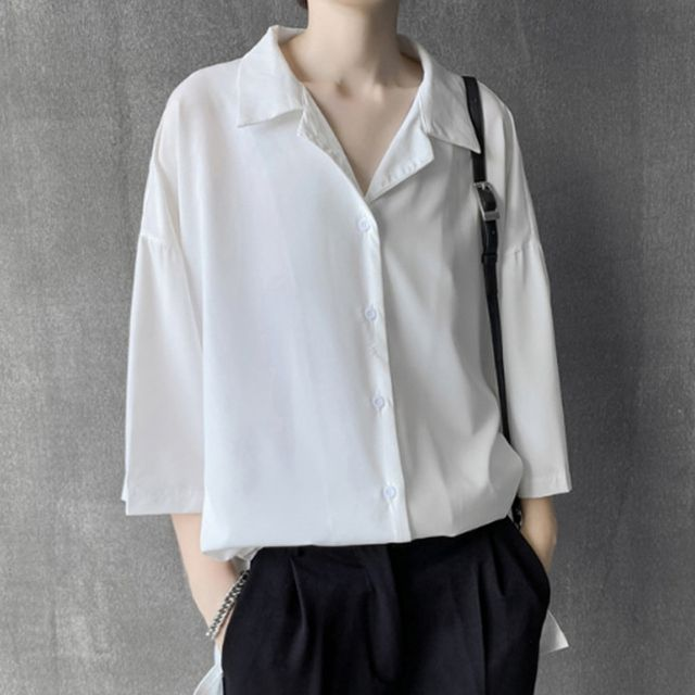 W 남성 여름셔츠 반팔셔츠 오버핏 데일리룩 캐주얼정장