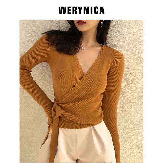 [해외] Werynica 2020 봄 스웨터 카디건 여성 긴 소매 니트