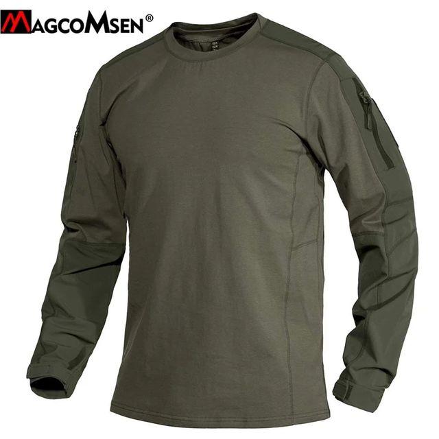 [해외] MAGCOMSEN 2021 봄 남성 군사 전술 T 셔츠 긴 소매 O