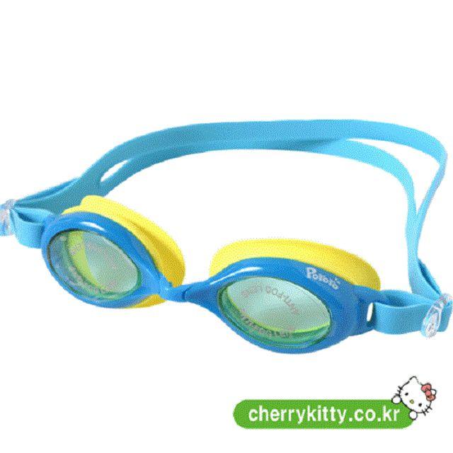 어린이 아동 수경 물안경 뽀로로물안경 블루 수영안경