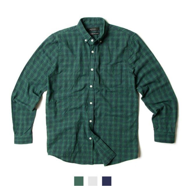 남자셔츠 클래식 체크 긴팔셔츠 P0417003