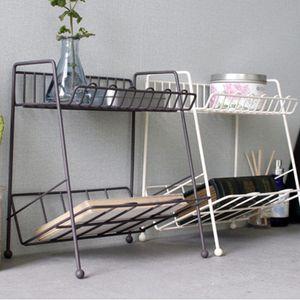 2단 철제선반 거실 침실 서재 인테리어 선반 소품정리