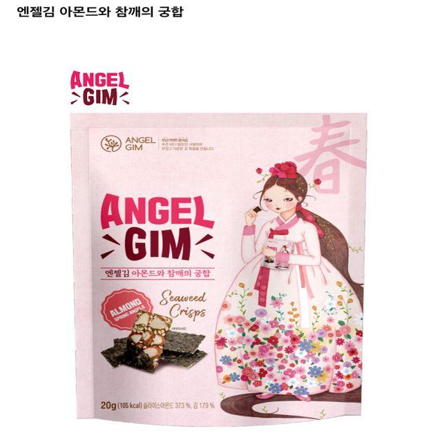 김스낵 부각 춘하추동 엔젤김 아몬드와 참깨의 궁합