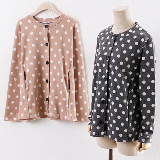 도트 가디건 봄 가을 여성 데일리 패션 재킷