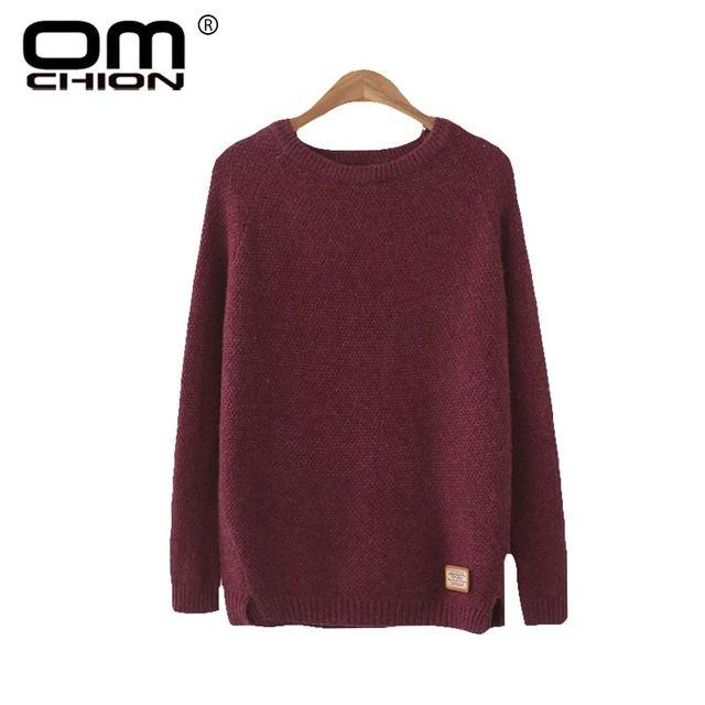 [해외] Omchion n 여성 스웨터 오 넥 긴 소매 니트 새로운 20