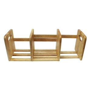 슬라이드형 원목책꽂이 책상정리 수납장