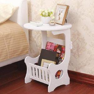 유럽풍 미니 원형 잡지꽂이 침대 거실 협탁 테이블