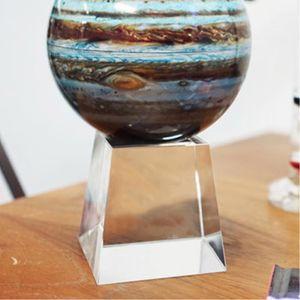 투명 크리스탈 80 사각 회전구 받침대 모바 장식품
