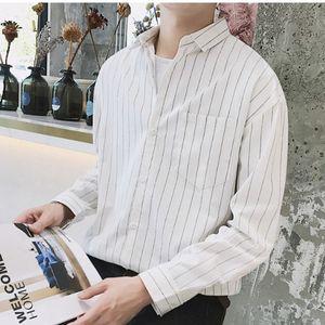 39d35a10fda 남자 세로줄 남방 와이셔츠 캐주얼옷 신상 루즈핏