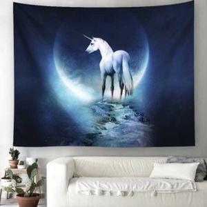 벽인테리어 가림막 월데코 달빛 유니 콘 포스터 3size