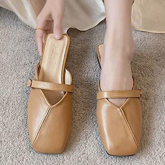 W 여자 나들이 가벼운 외출 신발 슬리퍼 편한 블로퍼