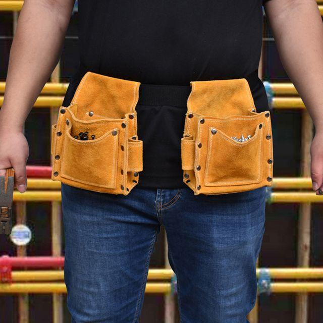 W 키밍 다용도 공구 수납 가방 포켓 허리띠 건설 목공