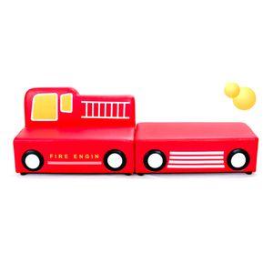 4인용 유아 소파세트 꼬마 자동차 소방차 빨강 합피
