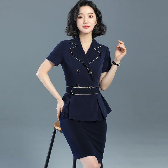 [해외] 여성 패션 재킷 자켓 정장세트 OL 유니폼이었다