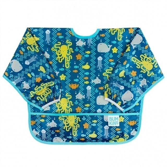 (041214)(범킨스)긴팔 턱받이-씨프렌즈 아기 어린이 유아 식기