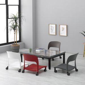 등받이 좌식 의자 허리편한 앉는 책상 컴퓨터 1인용