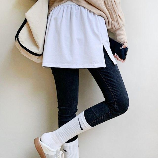 W 활용도좋은 데일리 패션 여성 레이어드 티셔츠 1+1
