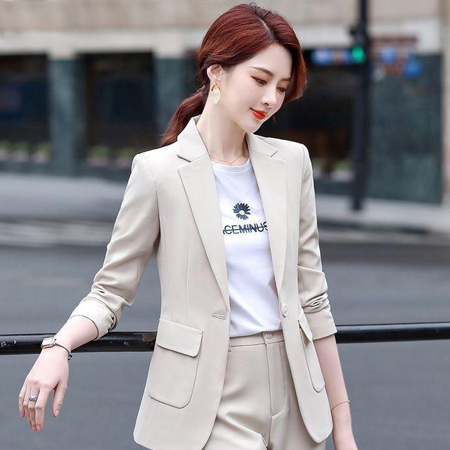 [해외] 여성 패션 재킷 자켓 정장세트 작업복 작은 정장