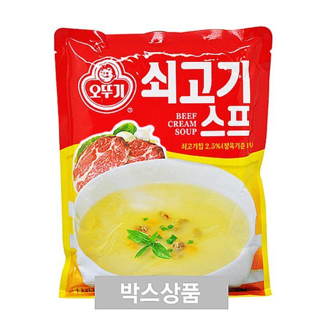 오뚜기 쇠고기 스프 1kg 50_60인분 X 10EA.