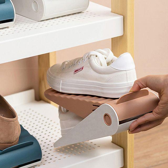 W 논슬립 고급 디자인 깔끔한 접이식 신발정리대